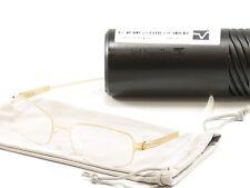 IC! Berlin Eyeglasses Frame Gunther Matt Gold Stainless Steel Germany 50-17-130