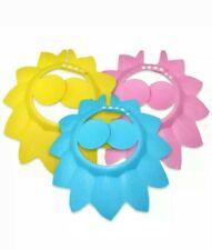 Kids Baby Adjustable Bath Hat Shampoo 3 Visor Shower Shield Caps Ships from Usa