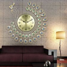 Big Wall Clock Peacock Design Home Ornament Decoration Household Items DIY Gift