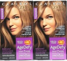2 Clairol Nice'n Easy Age Defy Covers Gray 8G Medium Golden Blonde Covers Gray