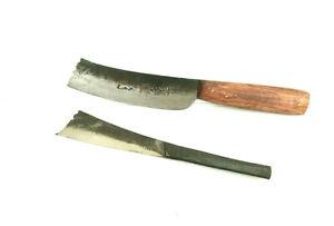 Vintage Thai kitchen Knife Set 2pc Aranyix Knives Slicer Peeling Cutter Steel