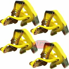 """4 Pc 27 FT X 2"""" HD Ratchet Nylon Tie Down Strap 10000 LBS Cargo DOT/CHP Rated"""