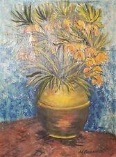 Van Gogh, Vintage post impressionist still life oil painting signed REPRO