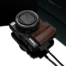 New GARIZ Genuine Leather Half Case Brown For Canon PowerShot G1 X Mark II Case