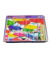 New Jigsaw Puzzle 300 Piece Colorful Floating Umbrellas Art Display