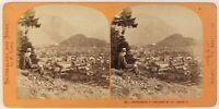 Unterseen Interlaken Suisse Foto Lamy Stereo Th1L7n53 Vintage Albumina c1868