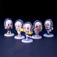5pcs/set Anime Super Sonico the Animation PVC Figure Kids Toys Present 10cm