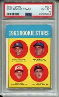 1963 Topps Baseball #537 Pete Rose Rookie Card RC Graded PSA Ex MINT 6 Reds