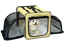 Pet Life H5KHLG Capacious Dual Expandable Wire Dog Crate Khaki - Large