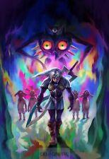 Poster A3 Videogame The Legend Of Zelda Majora's Mask Link Videojuego 01