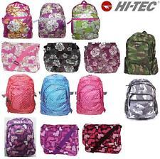 Backpack Print Rucksack Bag Girls Boys Hi Tec Travel School Work College Bags