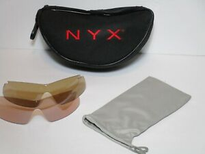 NYX Pro Z17 Replacement Lens Lot 2 Carrying Case Sport Eyewear Protection