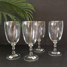 Crystal Beverage Glasses 4 Ralph Lauren Bedford Platinum Retired Original boxes