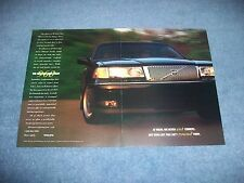 "1995 Volvo 960 Vintage 2pg Ad ""We Never Cut Corners...."""