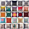 "LN_ 18"" Vintage Linen Cotton Throw Pillow Case Cushion Cover Home Sofa Decor N"
