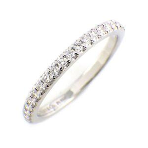 Auth Tiffany & Co. Ring Soleste Half Eternity Diamond PT950 Platinum US4.75
