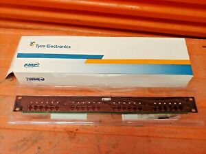 8 Tyco Amp NetConnect 24-Port 1U Discrete Patch Panel Assembly SL Series - NEW