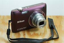 Nikon CoolPix S4100 Digital Camera - Touchscreen, 14MP, 5x Zoom, 4GB Card, Etc.