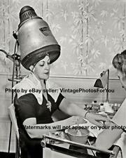 Old Antique Vintage Beauty Salon Hairdresser Stylist Hair Dryer Manicure Photo