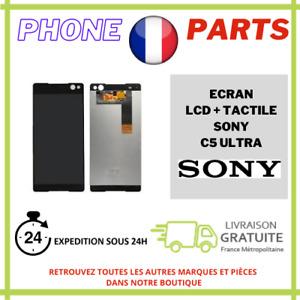 ECRAN COMPLET LCD + VITRE TACTILE POUR SONY XPERIA C5 ULTRA NOIR