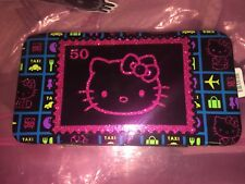 HELLO KITTY Black TRAVEL Hinge WALLET POSTAGE STAMP Hinged Girls Accessories
