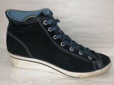 Converse Platform Navy Suede Shoes Size UK 7 EU 41 26.5cm