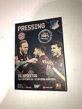 Programm Pressing TSG Hoffenheim - FC Bayern München 18.01.19 FCB
