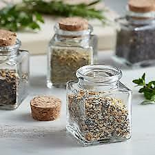 1.75 oz. Clear Glass Spice / Condiment Jar with Cork Top