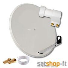 80cm Digitale HD SAT Anlage mit TWIN LNB Schüssel 2 Teilnehmer Antenne Spiegel W