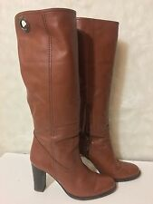 Vintage Cognac Bally Classic Tall Leather Boots~ 7.5