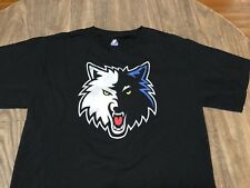 Minnesota Timberwolves Ricky Rubio Medium Black T Shirt NBA Basketball Majestic
