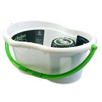 Minky 6 litre Smart Plastic Mop Bucket and Wringer Green White