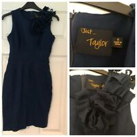 Just Taylor ladies Navy Blue stretch dress Bodycon Knee Lengh size 6 (100)