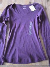 Women's size 6 long sleeve top Purple NEW