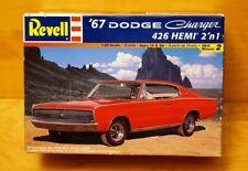 Revell 1967 Dodge Charger 426 Hemi 2 in 1 Model Kit 1/25 Scale #85-7669 - NOS