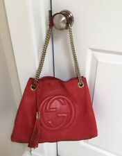9e01214fd0c Gucci Soho Blush Leather Gold Chain Strap Medium Bag