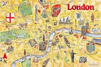 City of London Map Card Postcard by Crossroads Postcards No.90 77M