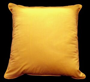 Rc410a Buttercup Yellow Pure Cotton Fabric Cushion Cover/Pillow Case*Custom Size