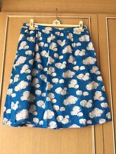 Cath Kidston 'Clouds' Lined Skirt Cotton UK Size 14