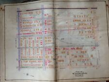 ORIGINAL 1907 MIDWOOD OCEAN AVENUE AVE G TO AVE J BROOKLYN NY ATLAS MAP