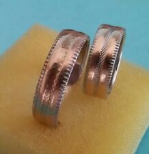 14K Yellow Gold His And Hers  Matching Wedding Band Ring Set Duo ((658))