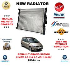 FOR RENAULT GRAND SCENIC II MPV 1.6 2.0 1.5 dCi 1.9 dCi 2004-> NEW RADIATOR