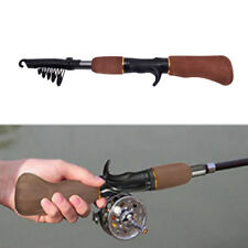 Carbon Fiber Telescope Fishing Rod Sea Rock Travel Spinning Pole Portable Z0W