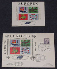 EUROPEX 1962 NY OVERPRINT S/S FDC + MATCHING MINT S/S (1st US EUROPA EXHIBITION)