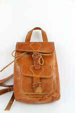 Mini Backpack Leather Tan Hanmade Greece Very Good Condition