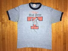 New listing Vintage 80s Toledo Mudhens Baseball Team T-Shirt Sz M Soft & Thin 1980s 50/50