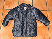 Womens VTG 80s J Gallery Gray Shoulder Padded Retro Duck Down Puffer Jacket Sz L