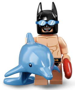 LEGO #6 SWIMSUIT BATMAN -The Movie Series 2 Collectible Minifigure Dolphin Beach