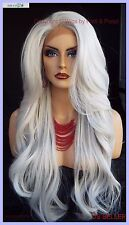 Long CLR #60 white/grey Lace Front Wig FLOWING SOFT WAVES SEXY  US SELL 359
