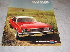 1973 Chevrolet Nova Full Color Sales Brochure